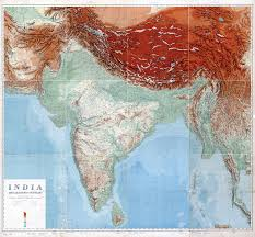 Physical Map Of Asia by In High Resolution Detailed Old Physical Map Of India And Adjacent