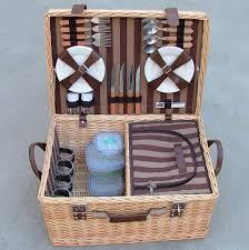 picnic basket set for 4 4 person wicker picnic baskets set hd9915 hd9915 picnic