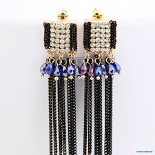 hypoallergenic earrings s cheap arrival diamond chain tassel exaggeration stud