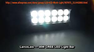 Waterproof Led Light Bar 12v by Larcolais 36w Cree Led Light Bar For Jeep Truck Atv 4x4 Super