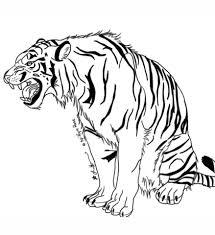 coloriage tigre hargneux coloriages à imprimer gratuits
