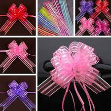 pull bows wholesale wholesale 10pcs organza ribbon pull bows wedding party decorations