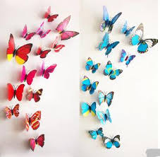 12pcs set 3d butterfly wall sticker pvc house stickers decorations