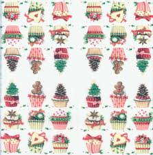 decoupage paper napkins of christmas party cupcakes muffins sweets
