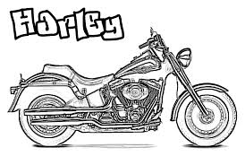 motorcycle coloring pages harley coloringstar