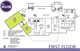 hub first floor map the hub