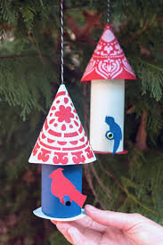 paper craft birds for your tree handmade