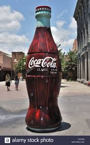 giant drink giant coca cola bottle at a theme park in orlando stock photo