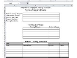 employee evaluation template excel employee training template