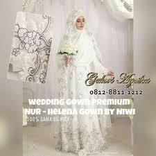 wedding dress syari kebaya nikah syari modern helena wedding gown 01 ga galeri