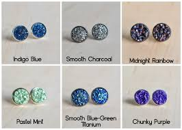 druzy stud earrings 60 colors on sale druzy stud earrings in silver or gold druzy