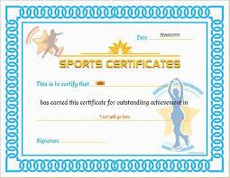 sports certificate templates microsoft word certificate template