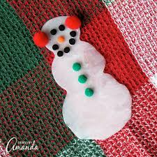 glue snowman winter kid s craft or snowman ornament