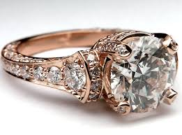 antique gold engagement rings engagement ring large cathedral graduated pave diamond engagement