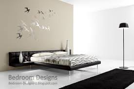 Creative Bedroom Design Ideas For Master Bedroom With Birds Wall - Creative bedroom wall designs