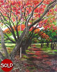 Brisbane Botanic Gardens Mount Coot Tha by Brisbane Paintings Of Brisbane More Paintings Of Brisbane