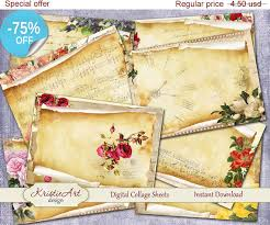 aceo cards for sale 75 sale aceo cards manuscript digital collage sheets