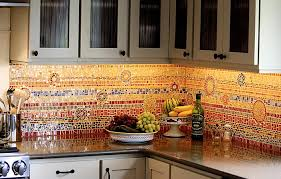 Red Mosaic Tile Backsplash by Red Mosaic Tile Backsplash Great Home Decor The Greatness Of