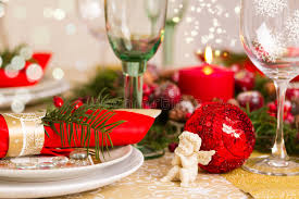 christmas table setting images christmas table setting with holiday decorations stock image image