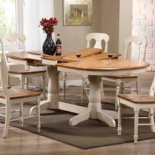 shop iconic furniture oval double butterfly leaf dining table at