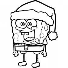 spongebob wearing santas hat coloring kids play color 18039