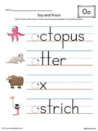letter o tracing and writing printable worksheet color