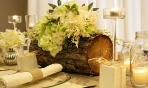 wood log vases find inspiration in nature for your wedding centerpieces 40