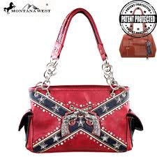 Confederate Flag Wallet Cfd01g 8085 Montana West Confederate Flag Collection Handbag New
