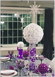 purple table decorations for weddings party themes inspiration