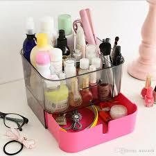 Makeup Organizer Desk Desk Plastic Drawer Style Cosmetic Organizer Clear Makeup Jewelry