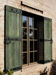 Outdoor House Decorative Outdoor House Shutters When Close Windows With Exterior