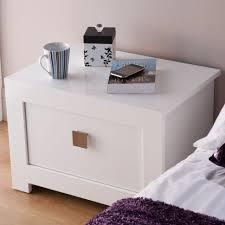 Glossy White Bedroom Furniture Bedroom Furniture Bedroom White Solid Wood Nigtstand Built In