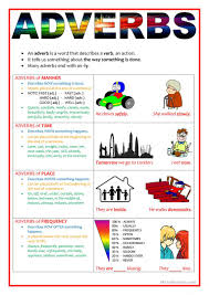 adverbs of manner time place and frequency worksheet free