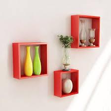 Wall Shelves Pepperfry by Wooden Wall Shelves Diy Wall Shelf Ideas Modern Black 4 Sets