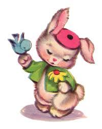 free vintage clip art vintage bluebird and bunny duo free