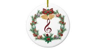 music christmas wreath treble clef ornament gift zazzle com