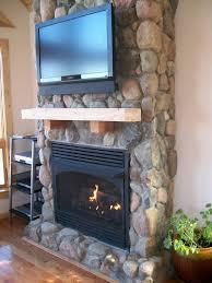 stone veneer fireplace home decor