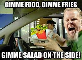 Metallica Meme - lol when metallica orders lol musical funnies pinterest