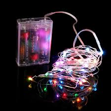 copper wire lights battery multi color 3 aa battery operated led string lights