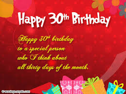 30th birthday greeting card messages best happy birthday wishes