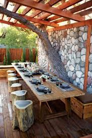 idee de jardin moderne aménagez une salle à manger de jardin ideeco