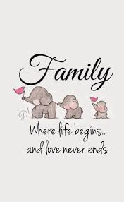 family where begins and never ends family quotes