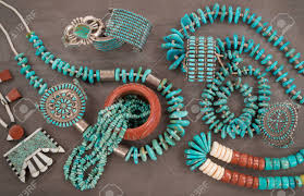 vintage turquoise silver necklace images A collection of vintage native american jewelry made of turquoise jpg