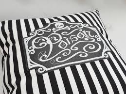 gothic poison stripes throw pillow gothic home decor halloween