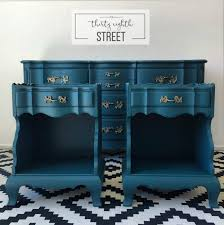 painted peacock blue dresser makeover thirty eighth street