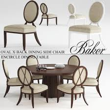 baker oval x back dining side chair 3d printable model 2