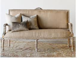 choosing a vintage style sofa she holds dearly