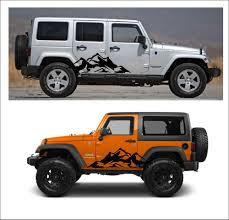 sahara jeep logo 2pcs mountain fender side decal sets graphic jeep wrangler rubicon
