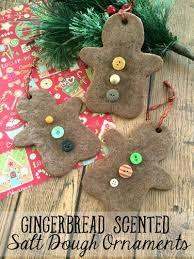 diy christmas ornaments gingerbread scented salt dough ornaments