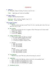 english vi lp 1st to 4th grading